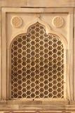 在Taj Mahal的大理石透气面板 库存图片