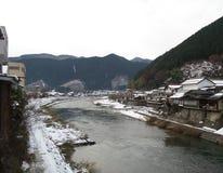 在Takayam日本的河场面 免版税库存图片