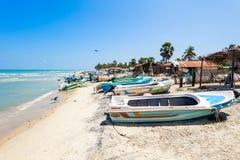 在Talaimannar海滩的Fishermans 图库摄影
