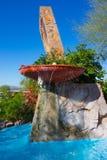 在Taliesin西部亚利桑那的弗兰克・劳埃德・赖特喷泉 免版税库存照片