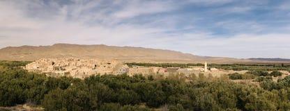 在Talsint,摩洛哥附近的老村庄Ghazouane 免版税库存照片