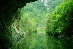 洞在Tam Coc河 库存图片