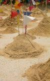 在tample的沙子山 免版税库存图片