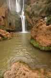 在Tanaghmeilt村庄,盛大地图集,摩洛哥附近的Ouzoud瀑布 免版税库存图片