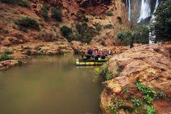 在Tanaghmeilt村庄,盛大地图集,摩洛哥附近的Ouzoud瀑布 图库摄影