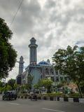 在Taqwa清真寺巴厘巴板市的Masjid阿贡 免版税图库摄影