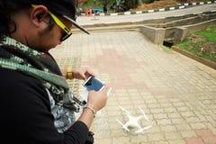 在Tasik Kenyir的空中电视录象制作寄生虫 免版税库存图片