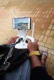 在Tasik Kenyir的空中电视录象制作寄生虫 库存照片