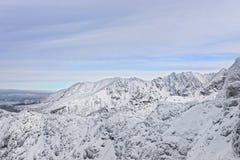 在Tatra山扎科帕内的Kasprowy Wierch峰顶在冬天 库存照片