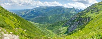 在Tatra山的全景风景 免版税库存照片