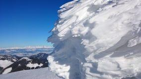 在Tatra山的冬天-结冰的风 免版税库存图片