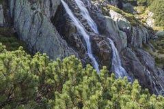 在Tatra山的瀑布Siklawa 免版税图库摄影