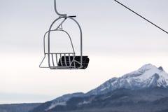 在Tatra山的驾空滑车 免版税库存图片