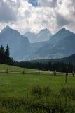 在Tatry山的Bielovodska谷 免版税库存照片