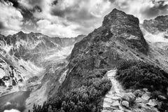 在Tatry山的Koscielec峰顶 库存照片