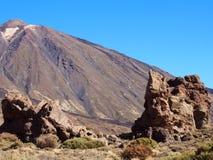 在teide国家公园的山 库存图片
