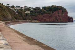在Teignmouth附近的走私贩小海湾 图库摄影