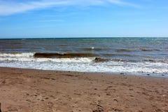 在Teignmouth,德文郡,英国的海滩 免版税图库摄影