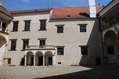 在TelÄ 城堡的四边形 免版税库存照片