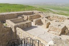 在Tel阿拉德的以色列寺庙在以色列 免版税库存照片