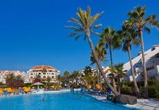 在Tenerife海岛的水池 免版税库存照片