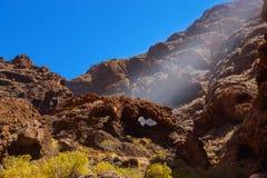 在Tenerife -金丝雀的著名峡谷Masca 库存图片
