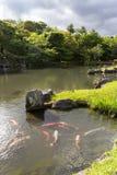 在Tenryu籍寺庙的水池在京都,日本 图库摄影