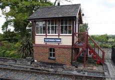 在Tenterdon火车站的信号房 库存照片