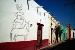 在Tequisquiapan,墨西哥的街道 库存图片