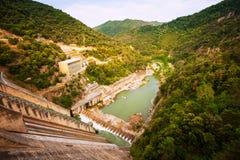 在Ter河的水力发电站 库存图片