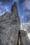 在Teter岩石,火石小山,堪萨斯的日落 免版税库存图片