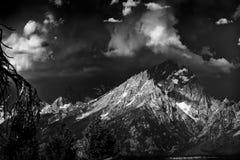 在Tetons的风暴日 图库摄影
