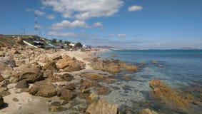 在tetouan的Restinga海滩,摩洛哥 库存照片
