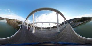 在Tevere河,罗马,意大利的现代桥梁 免版税图库摄影