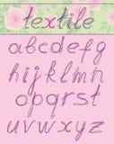 在textil上写字 库存图片