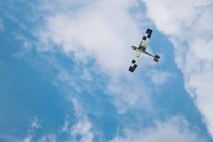 在tha空气的飞机 免版税库存照片