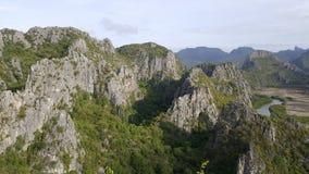 在Thailand#1的Khao山姆Roi Yot 免版税库存照片