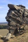 在Thale附近的恶魔的墙壁 库存照片