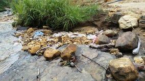 在thama节目埃拉斯里兰卡附近的土壤侵蚀 免版税库存图片