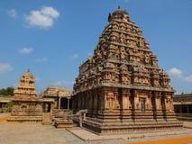 在Thanjavur的Brihadeshwara寺庙 免版税库存照片