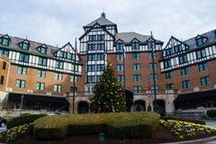 """在""""The旅馆Roanoke†的圣诞节 免版税库存图片"""