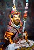 在Thiksey Gompa的佛教徒雕象在拉达克,印度 免版税库存照片