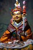 在Thiksey Gompa的佛教徒雕象在拉达克,印度 免版税库存图片