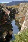 在Thingvellir国家公园的Flosagjà ¡ 图库摄影