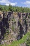 在Thunder Bay附近的峡谷 免版税图库摄影