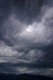 在thunderhead下,蒂瓦特,黑山 免版税库存图片