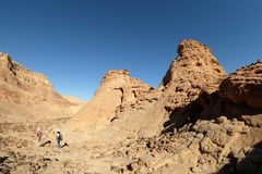在Timna山的风景风景 库存图片