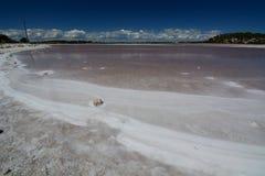 在Timperley湖的盐储蓄 rottnest的海岛 澳大利亚西部 澳洲 库存照片