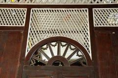 在Tinggi清真寺或Banjar清真寺的建筑细节 库存照片