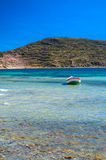 Titicaca小船 免版税图库摄影